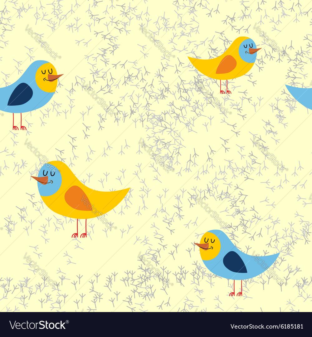 Bird tracks in sand a seamless pattern background