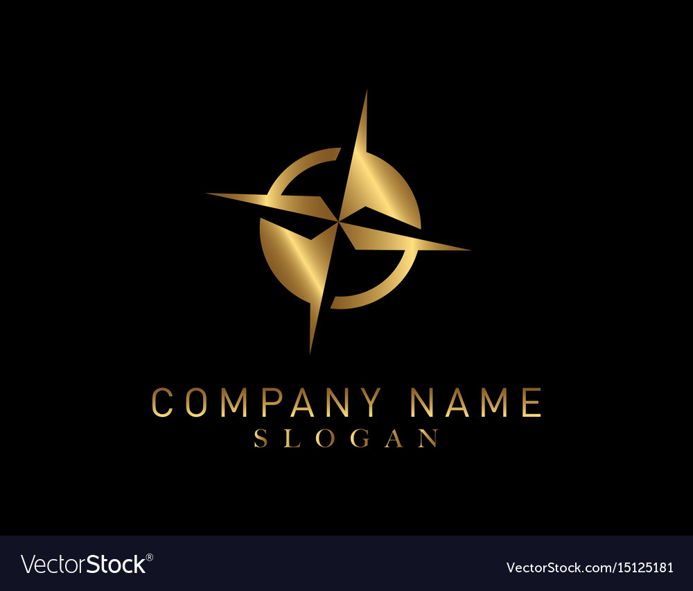 Compass Gold Color Logo
