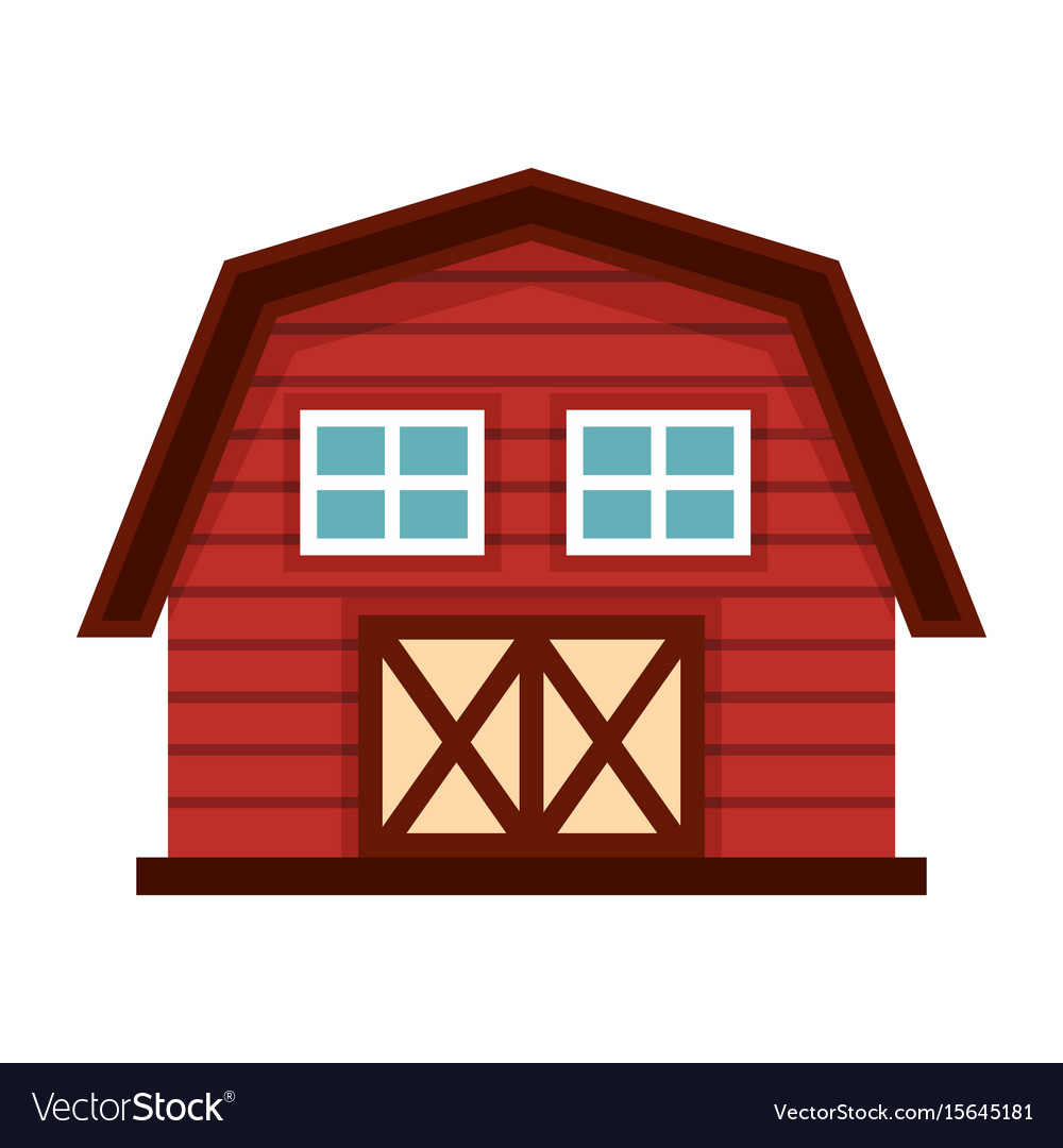 farm house in cartoon style isolated on white vector image rh vectorstock com download pictures of cartoon farm house download pictures of cartoon farm house