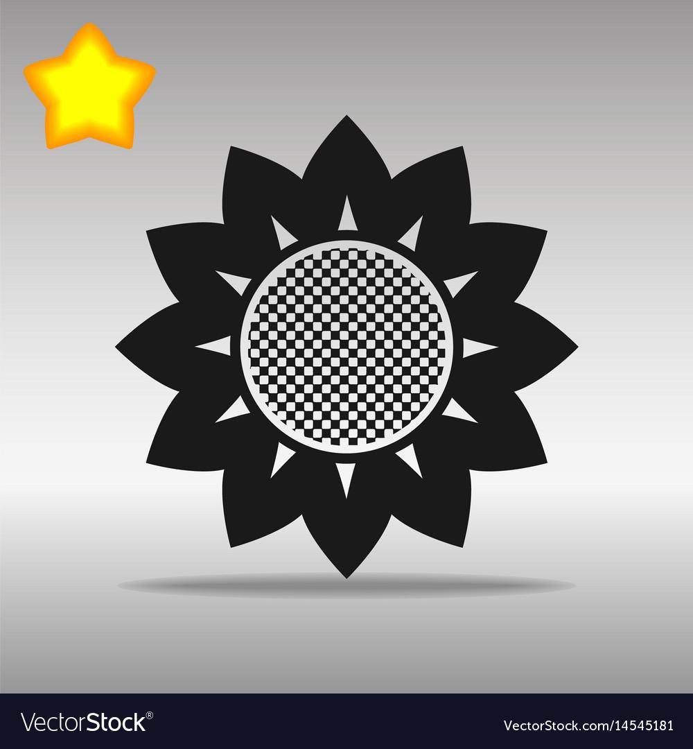 Flower black icon button logo symbol concept