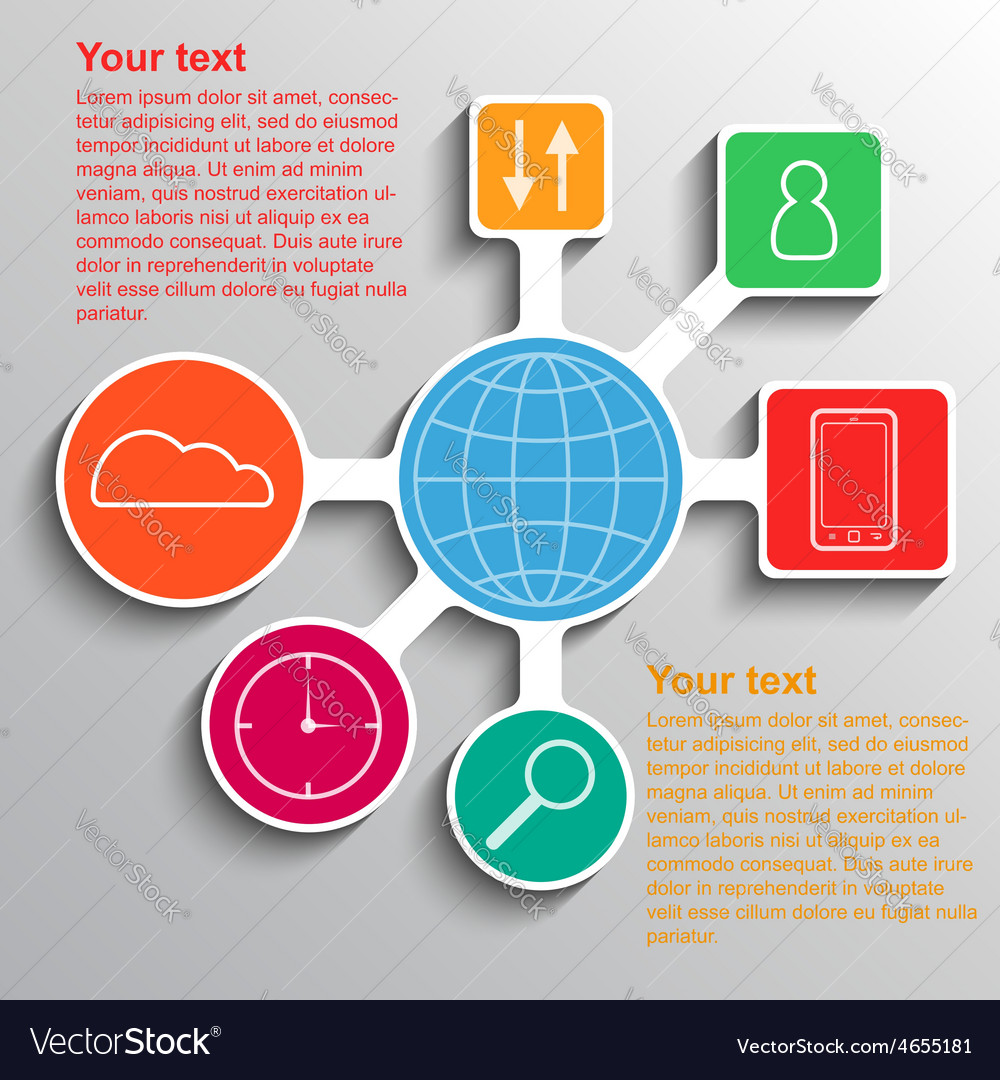 Infographic communication network connection