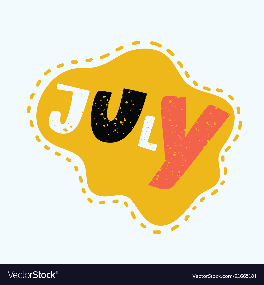 July - hand drawn lettering