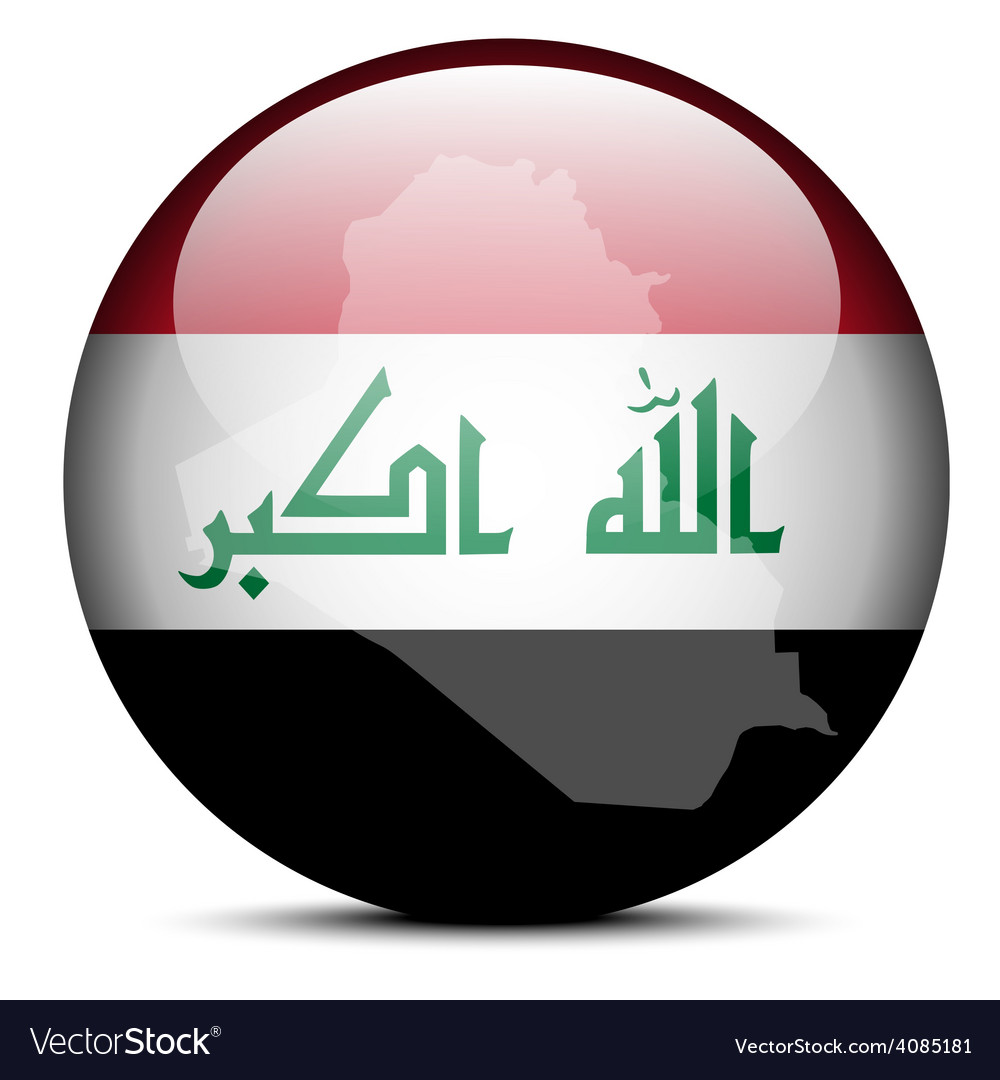 Map on flag button of Iraq