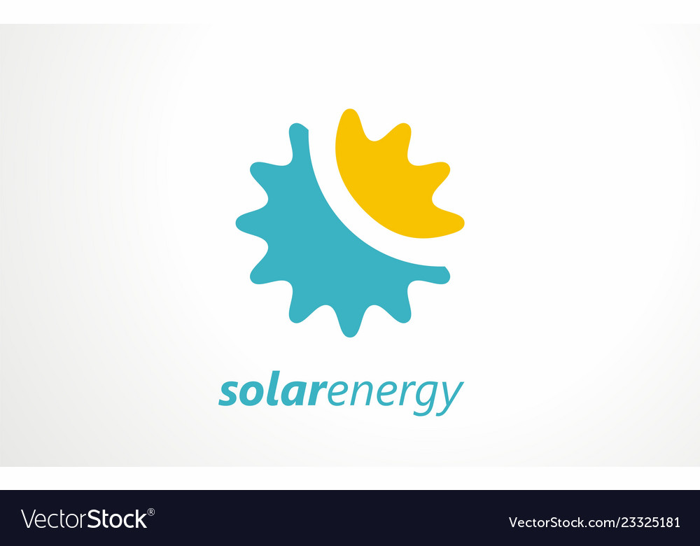 Solar energy logo sign symbol or icon