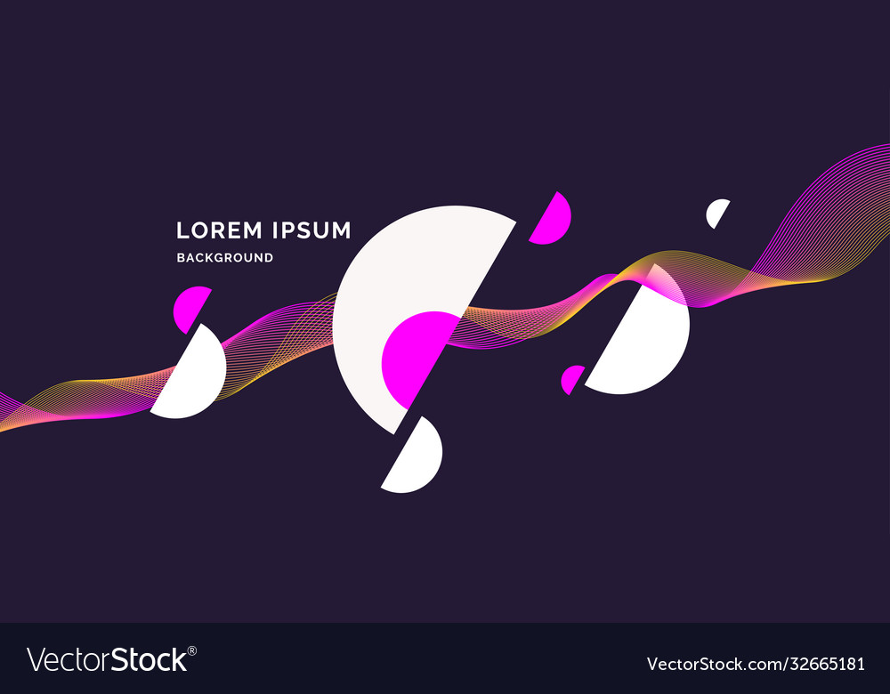 Trendy abstract background composition