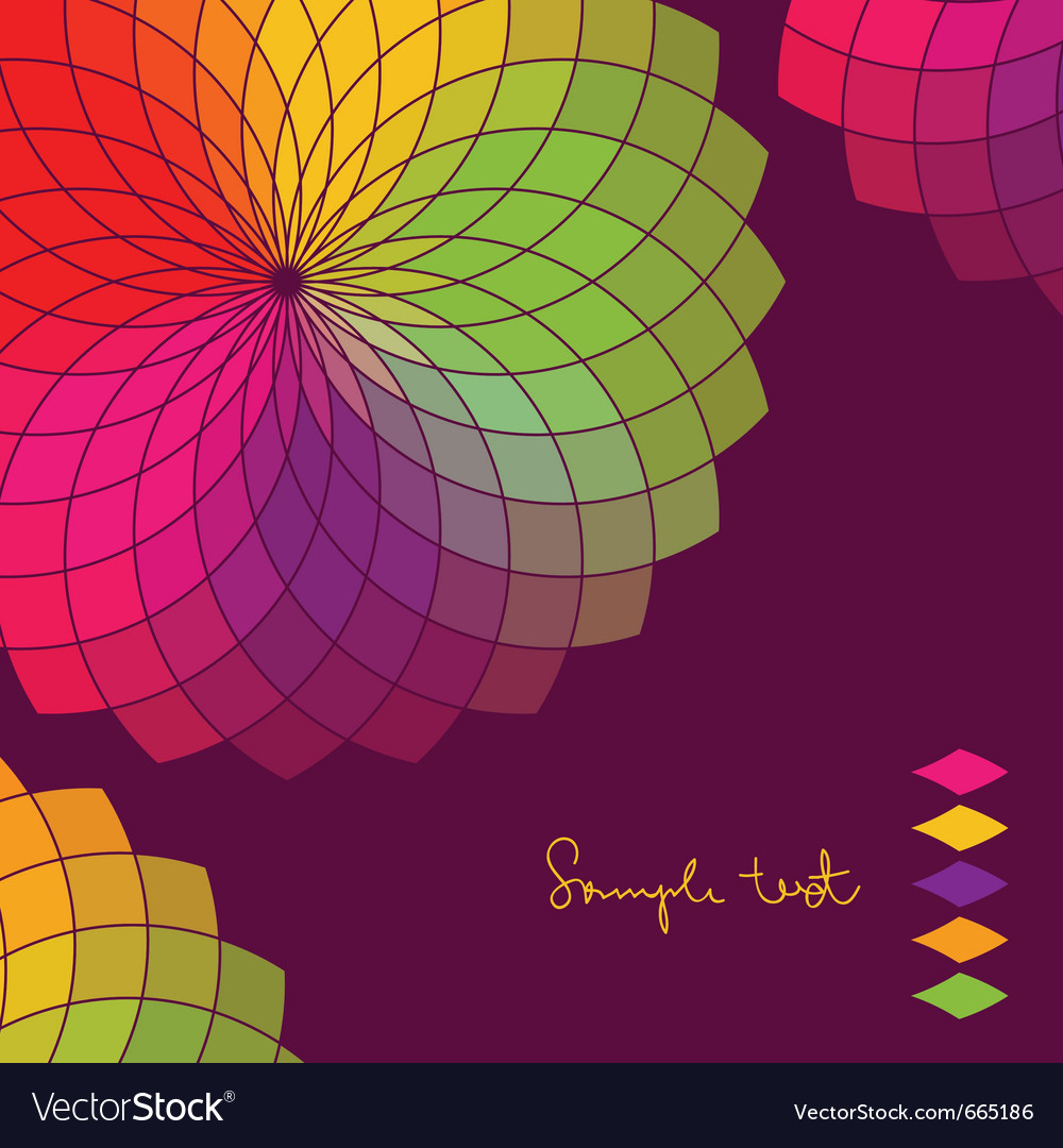 Abstract background with color flower wheel