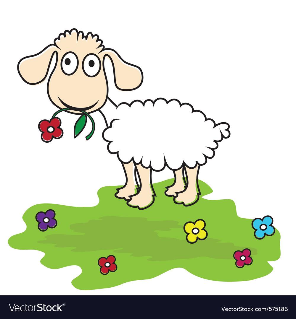 cartoon lamb royalty free vector image vectorstock rh vectorstock com Cartoon Horse baby lamb cartoon images