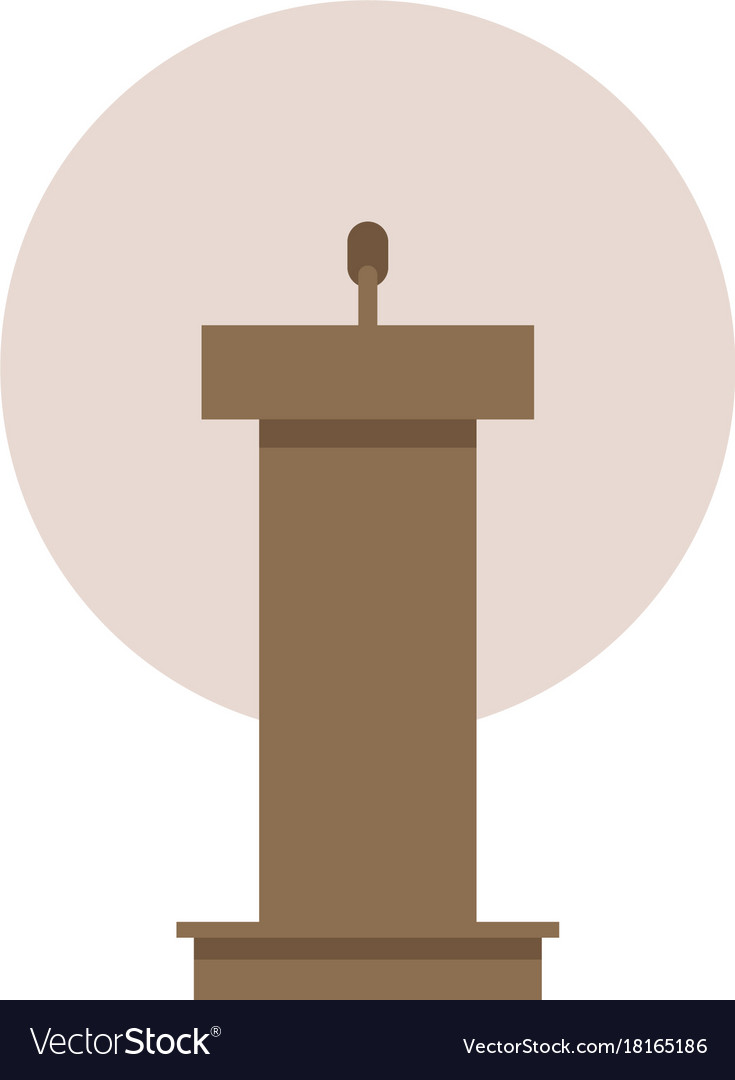 Flat design in icon lectern