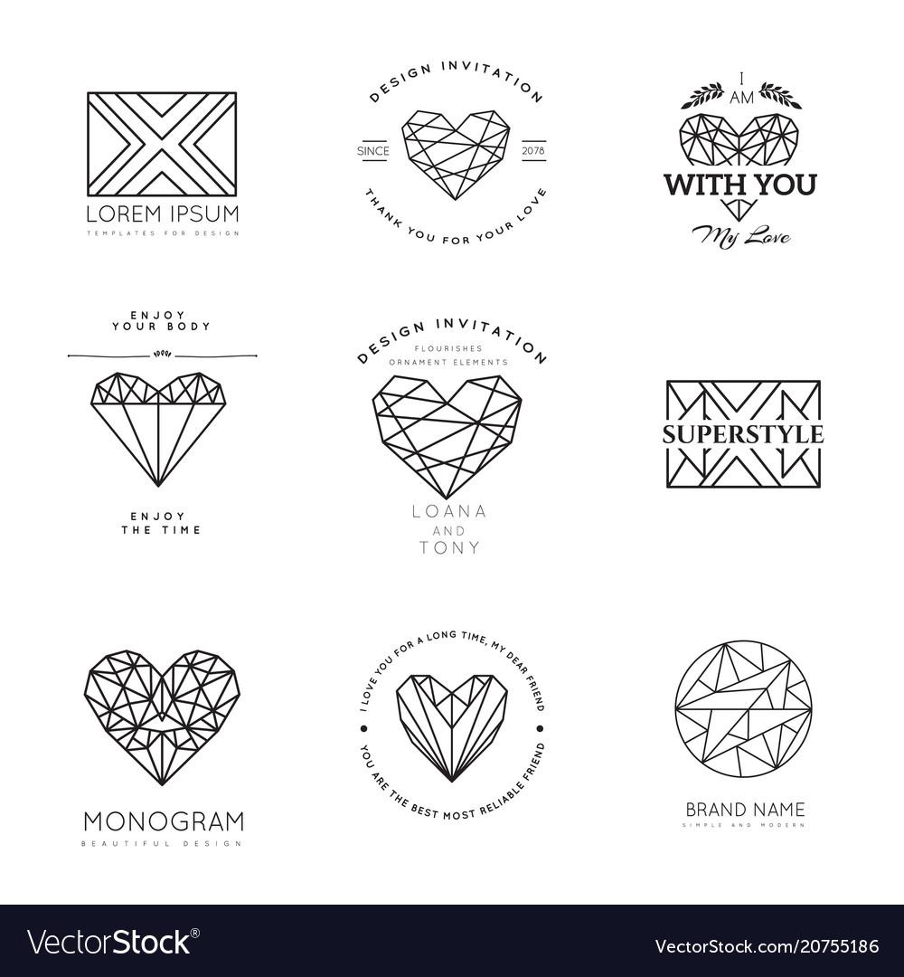Geometric logos