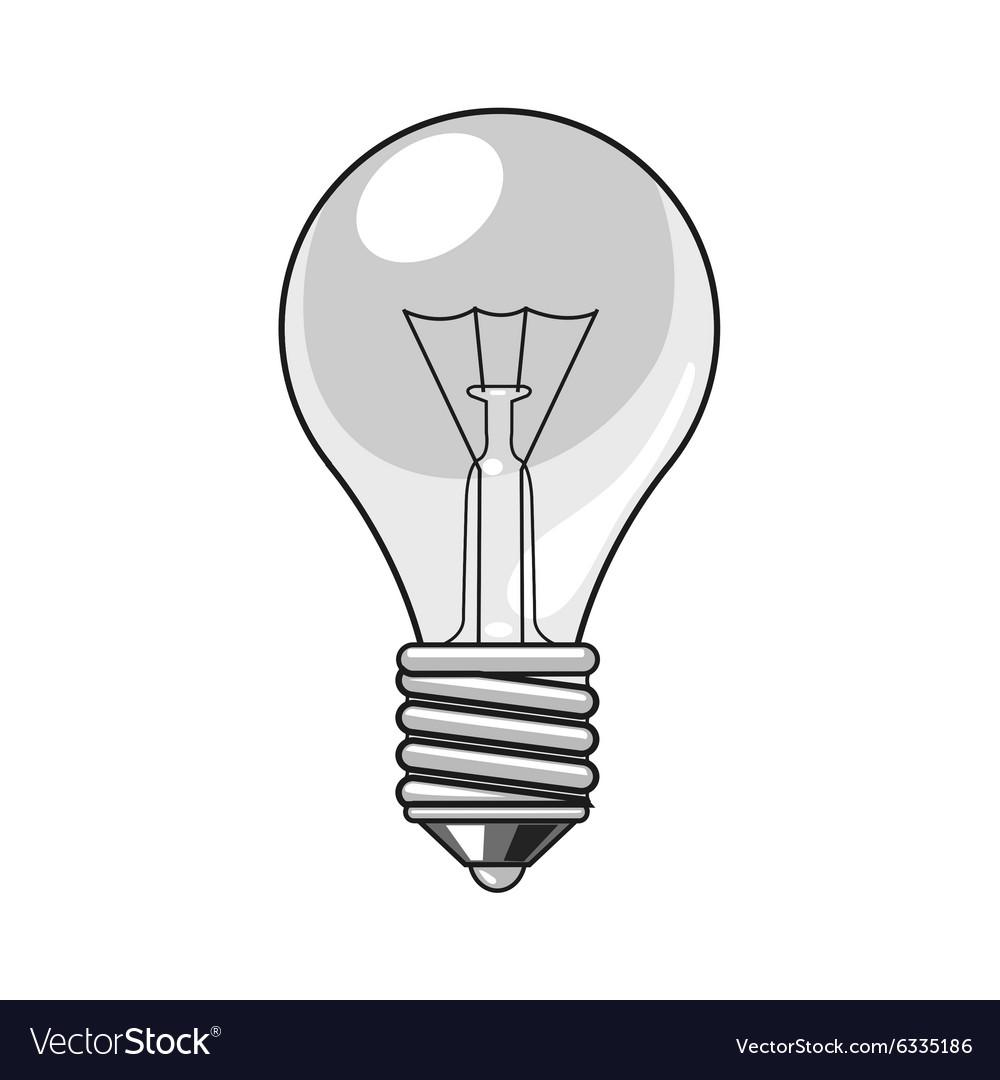 lightbulb cartoon royalty free vector image vectorstock rh vectorstock com light bulb icon vector vector light bulb icon