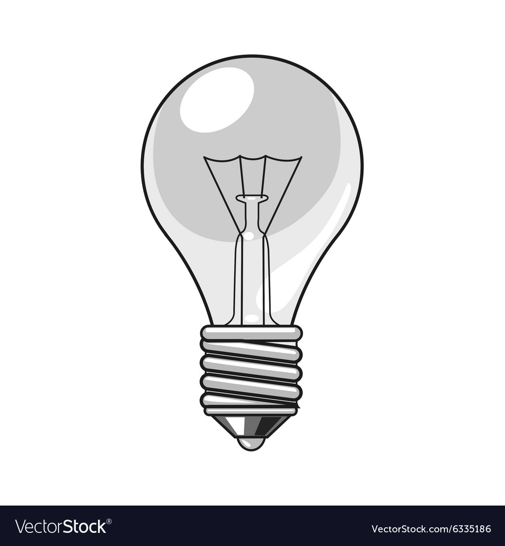 lightbulb cartoon royalty free vector image vectorstock rh vectorstock com head with light bulb vector head with light bulb vector