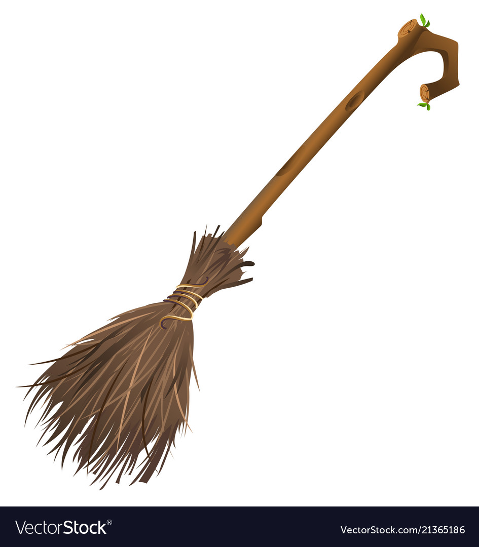 Old Magic Broom On Which Witch Flies Royalty Free Vector