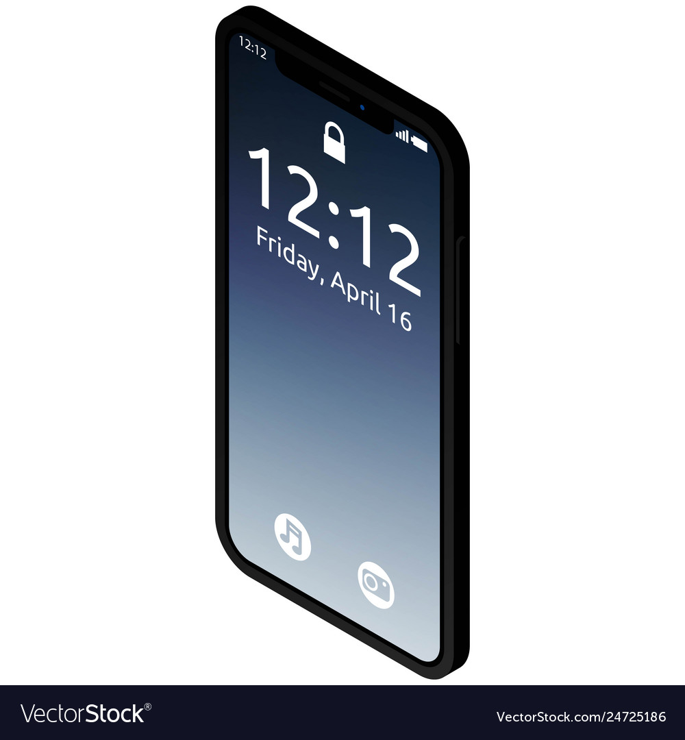 Realistic high quality phone concept with notch