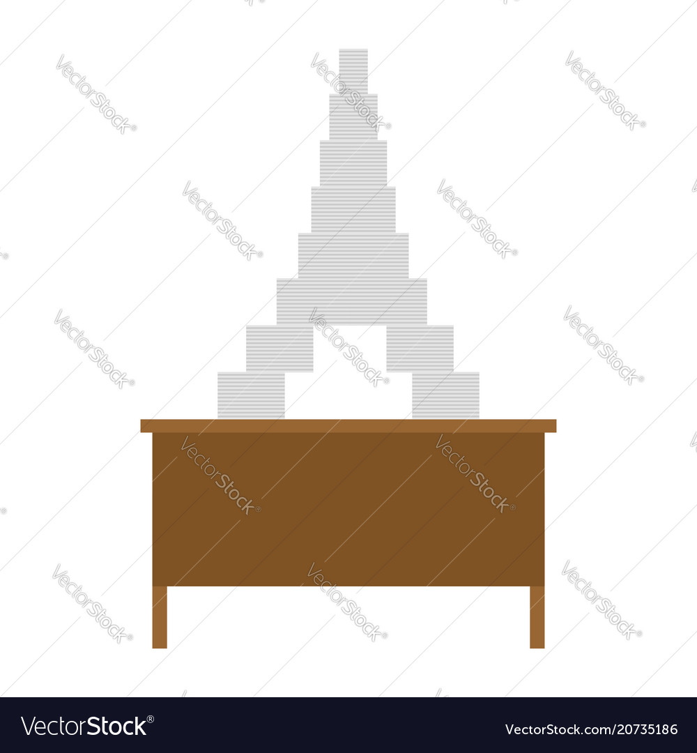 Working table and pile of papers eiffel tower