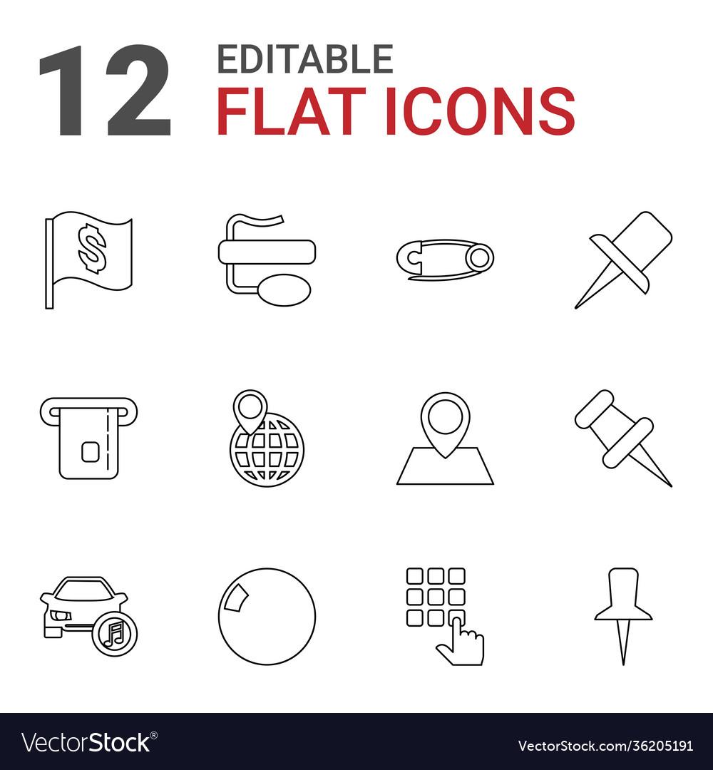 12 pin icons