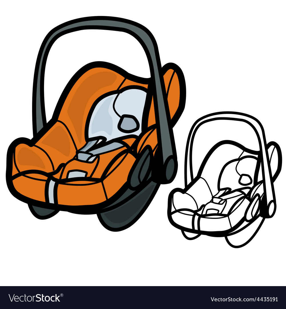 Baby Car Seat Vector Image