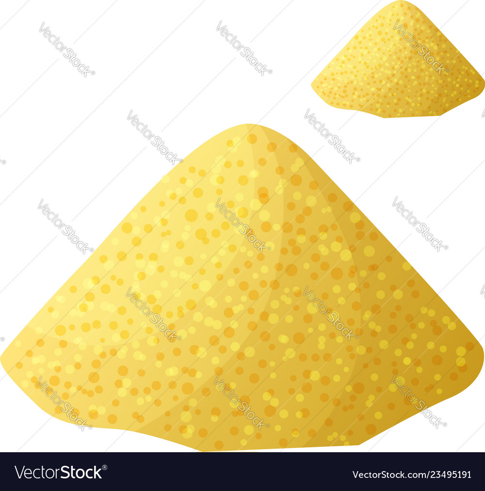 Cornmeal isolated on white background detailed