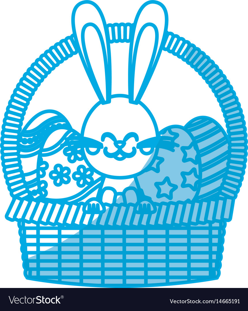 Cute Easter Bunny Basket Egg Decorate