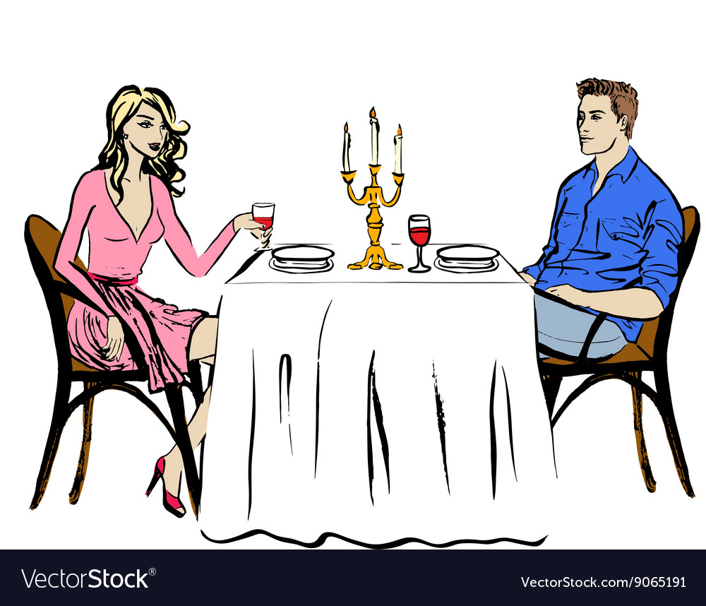 Dating in restaurant