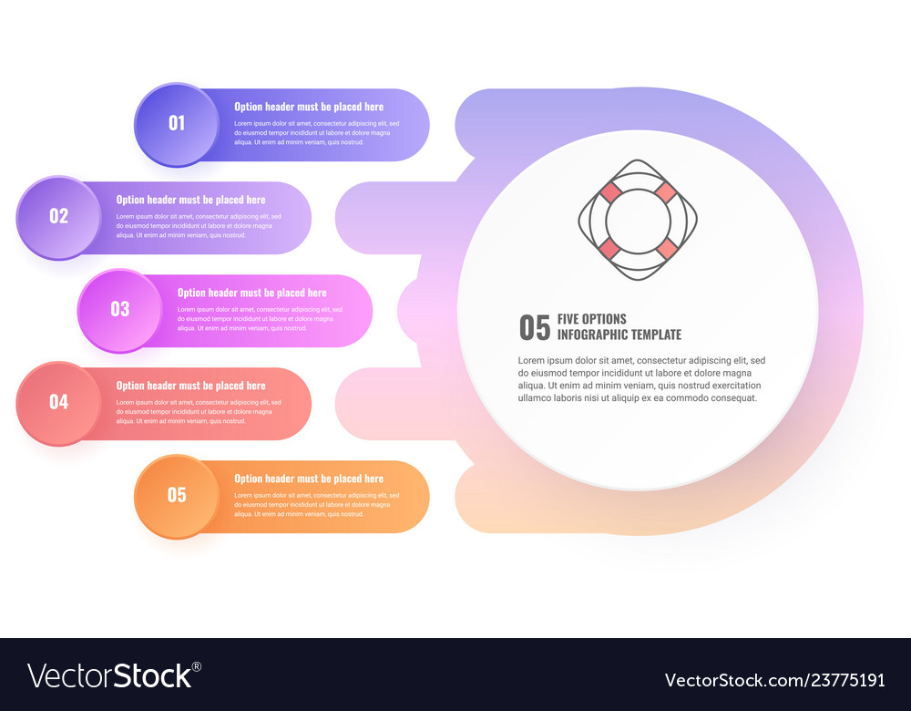 Five steps infographic template