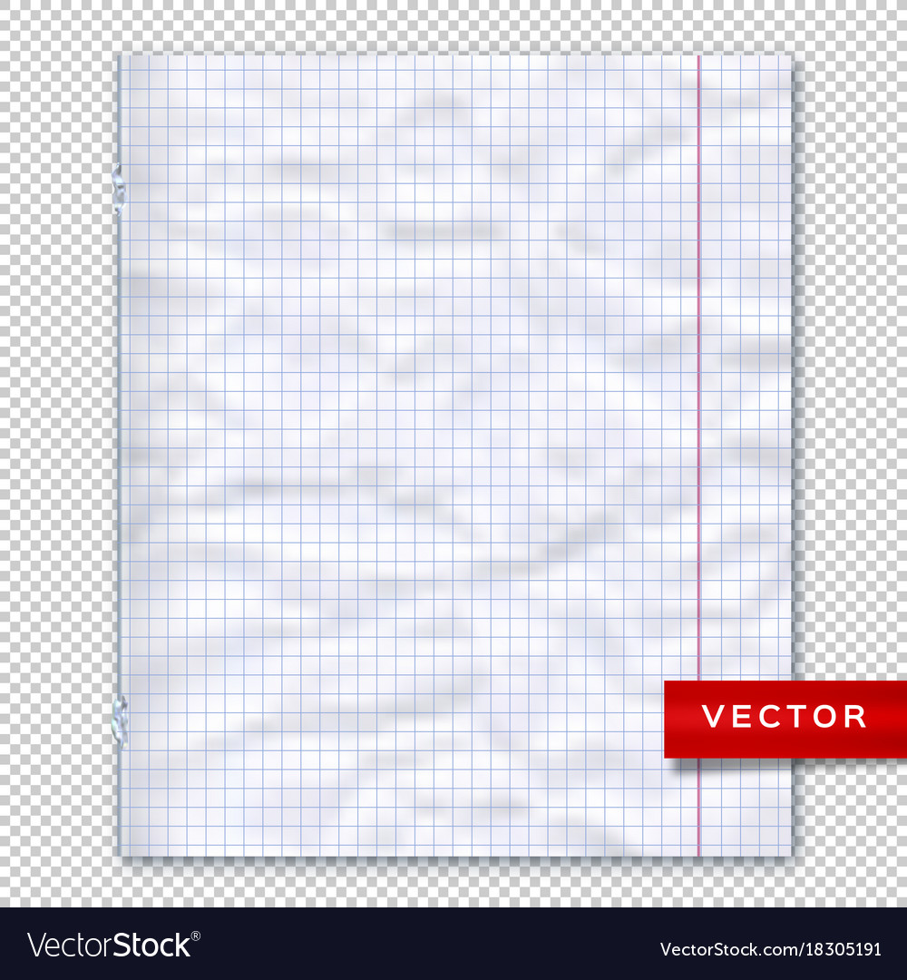 notebook page lined paper transparent background vector image