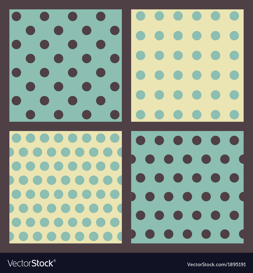 Set of colored dotted patterns