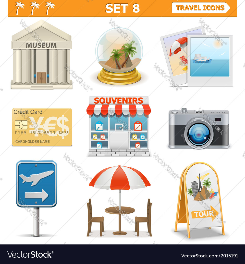 Travel Icons Set 8