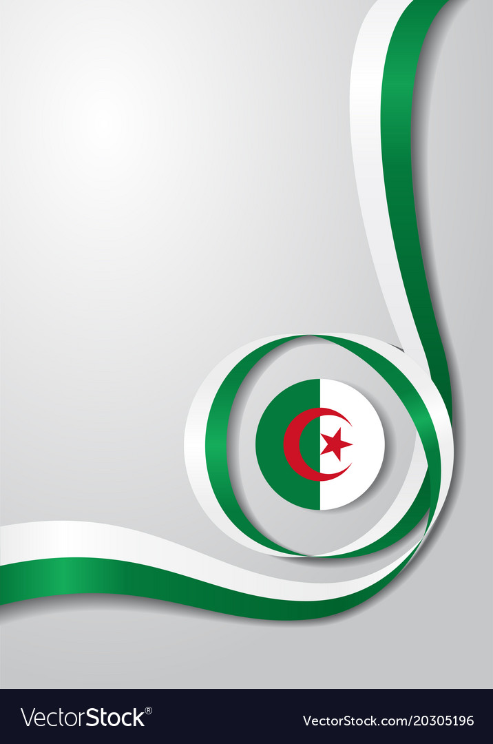 Algerian flag wavy background