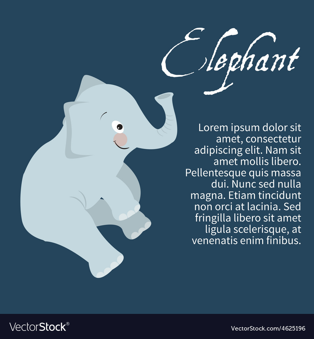 An isolated character elephant