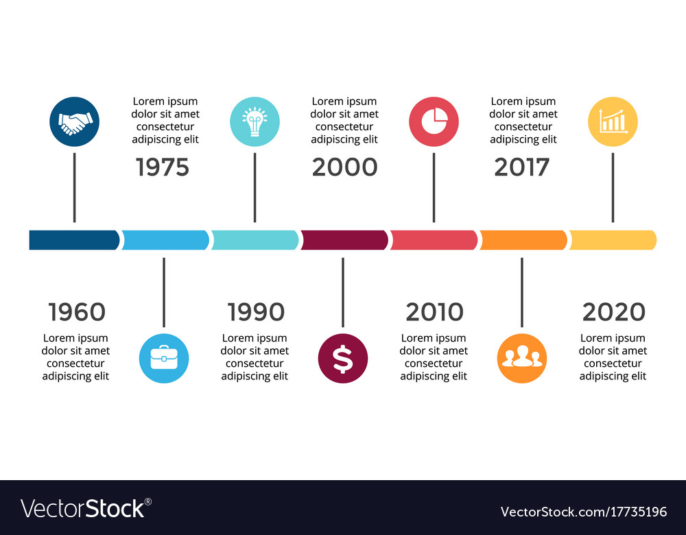 Arrows timeline infographic diagram chart vector image ccuart Images