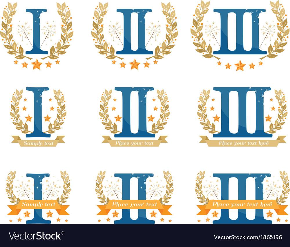 Awards emblems set