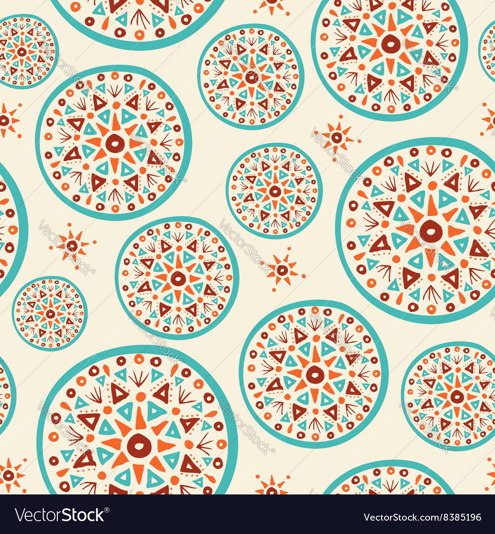 Boho pattern with handmade indian art design vector image