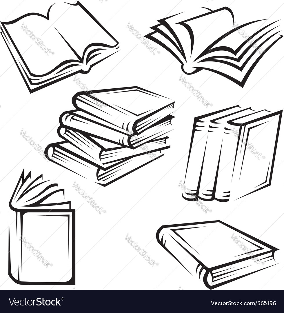 books royalty free vector image vectorstock rh vectorstock com books victoria book vector images