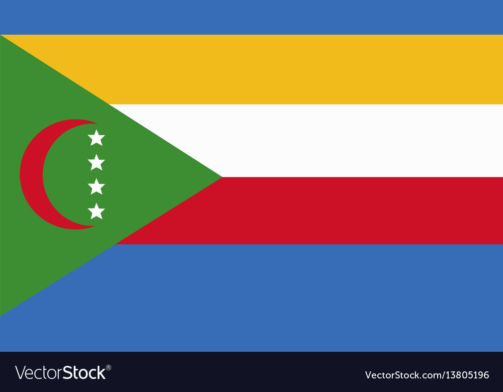 Comoros flag for independence day and infographic