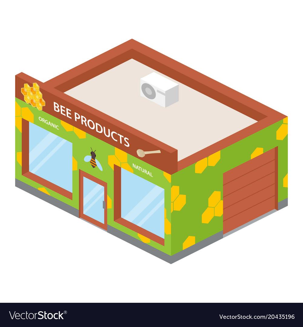 Honey shop icon isometric style