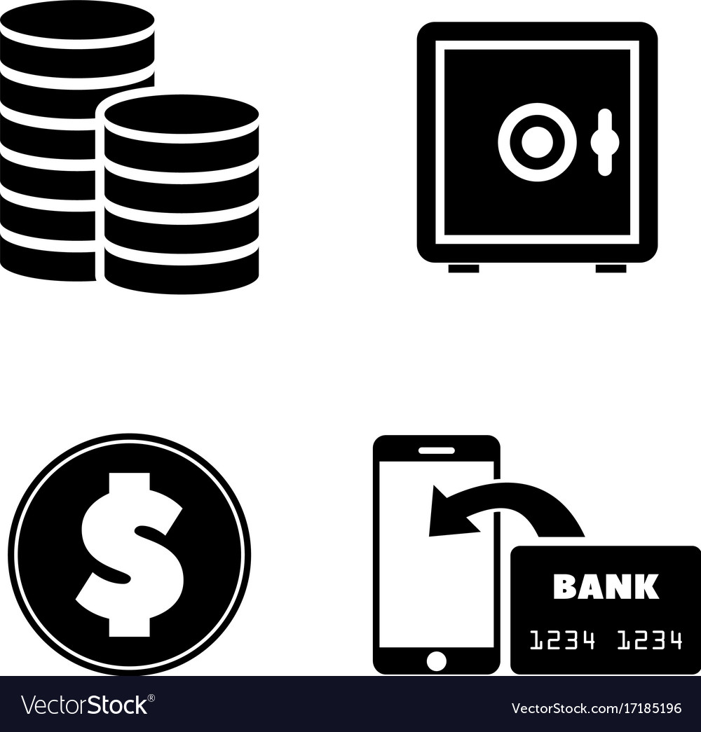 Money simple related icons