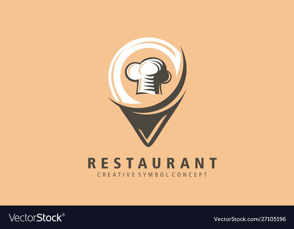 Restaurant location mark logo food