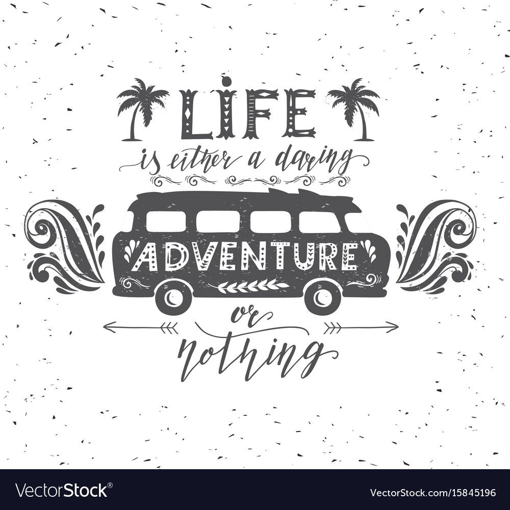 Travel poster with motivation quote