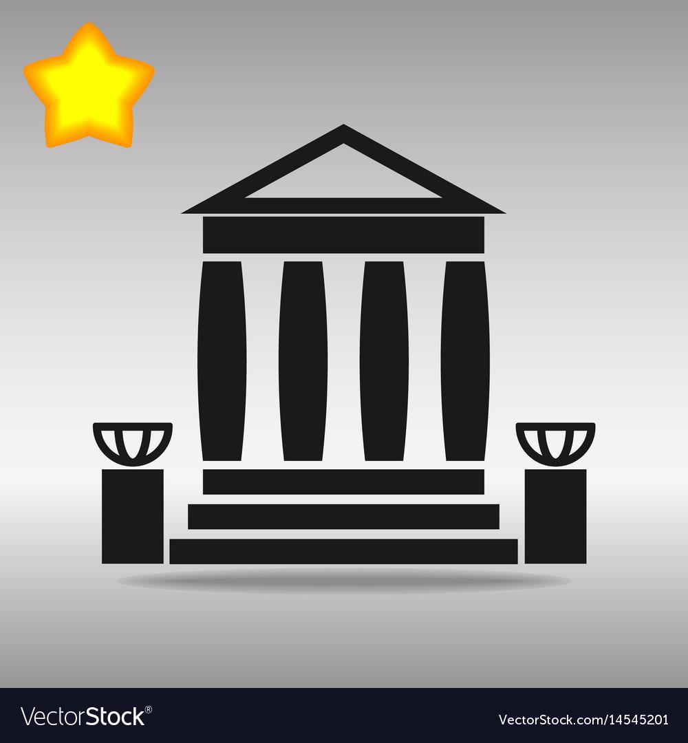 Bank building black icon button logo symbol
