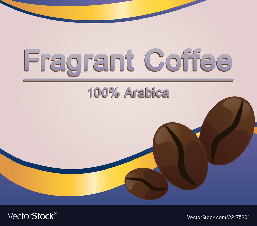 coffee label template royalty free vector image