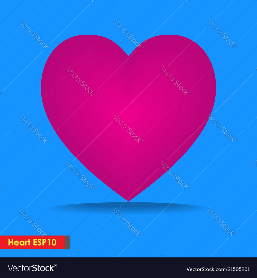 Design big heart icon for template background