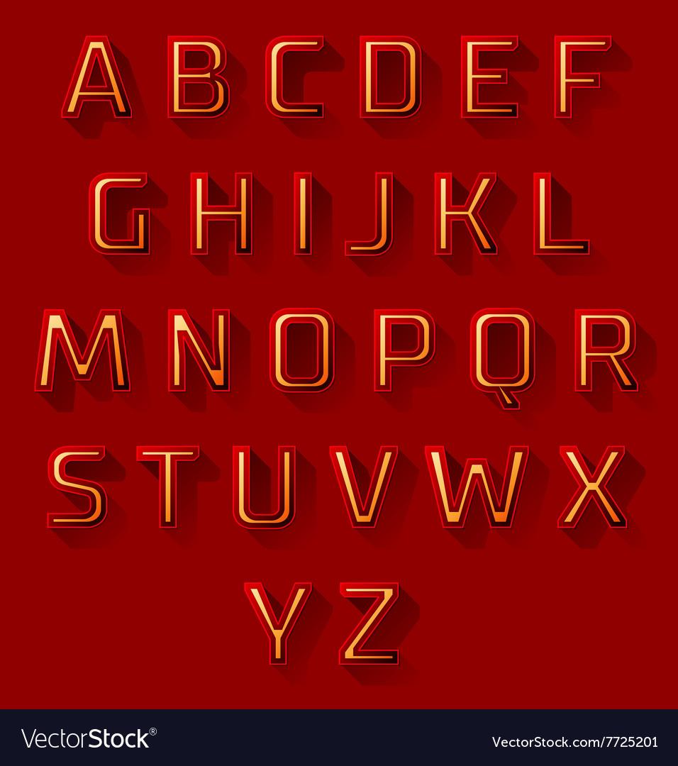 Red font design set vector image