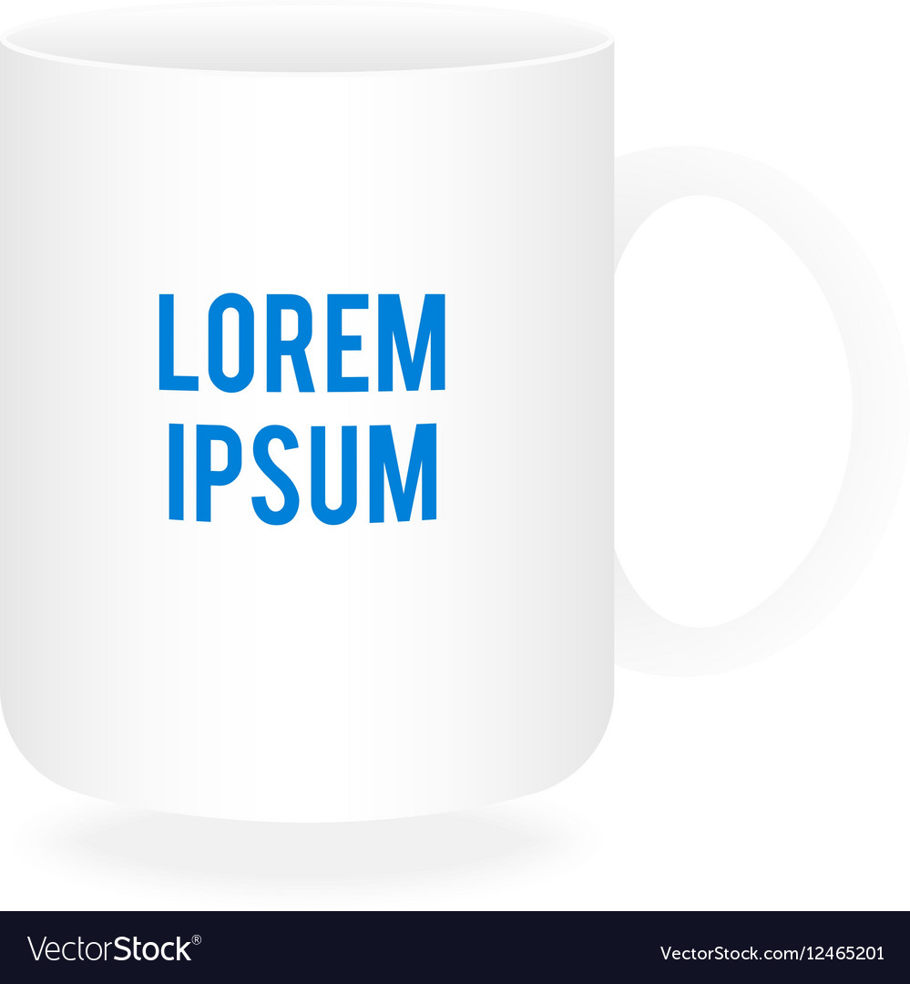 white cup or mug mockup vector image