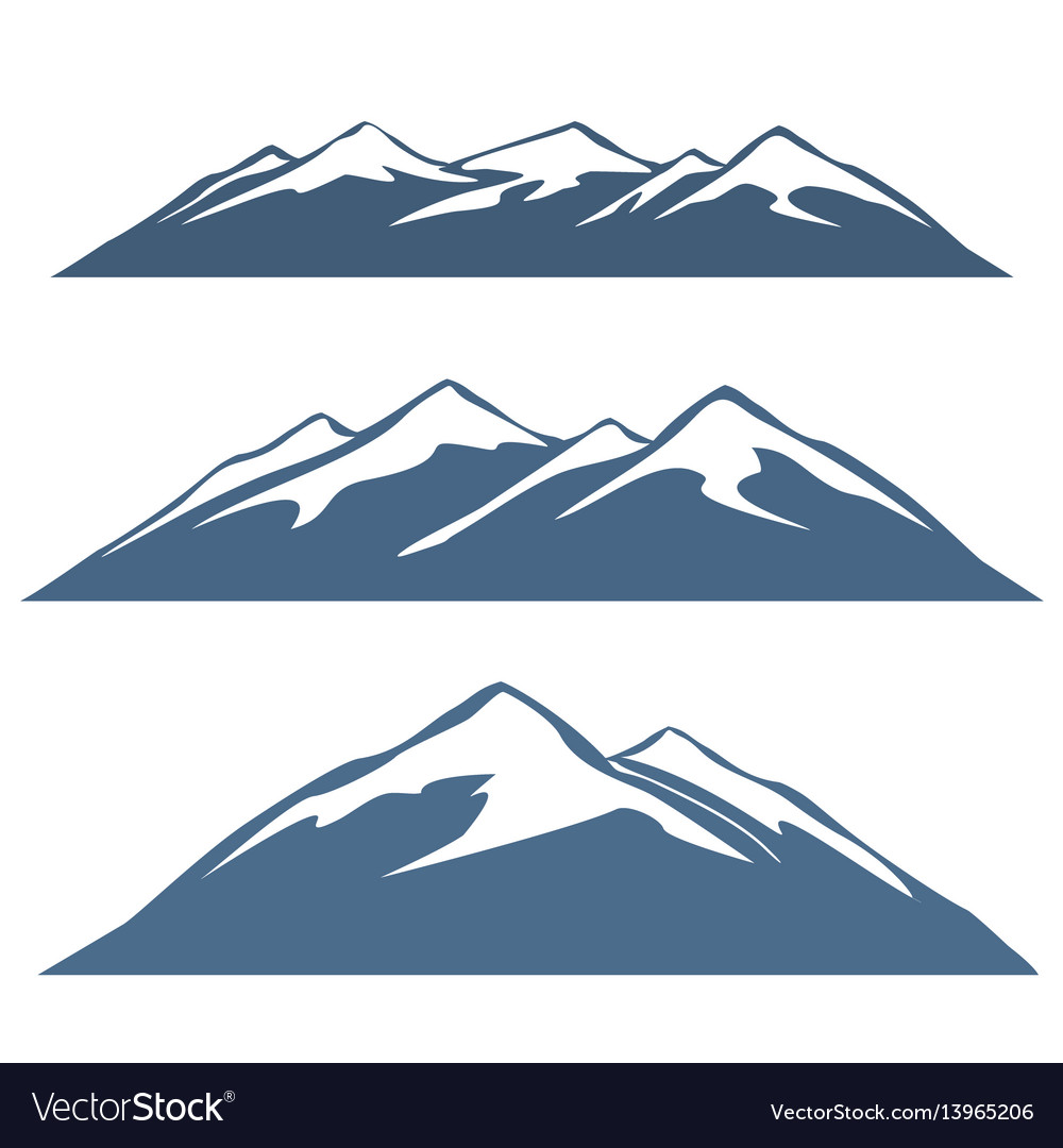 A set of mountain ranges