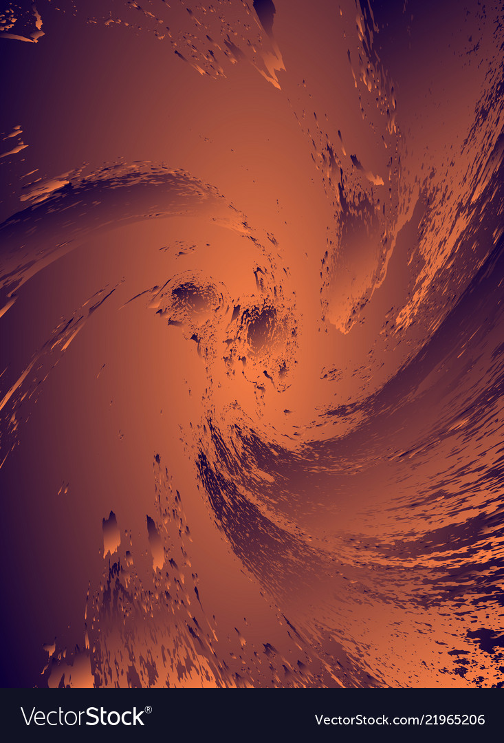 Abstract cosmic psychedelic dark blue golden