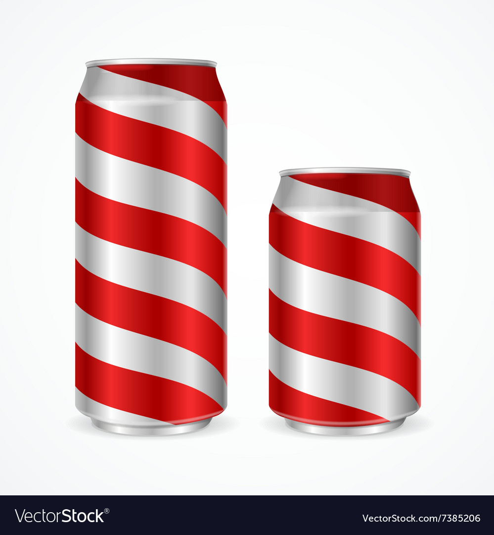 Aluminium Cans with Red Stripes