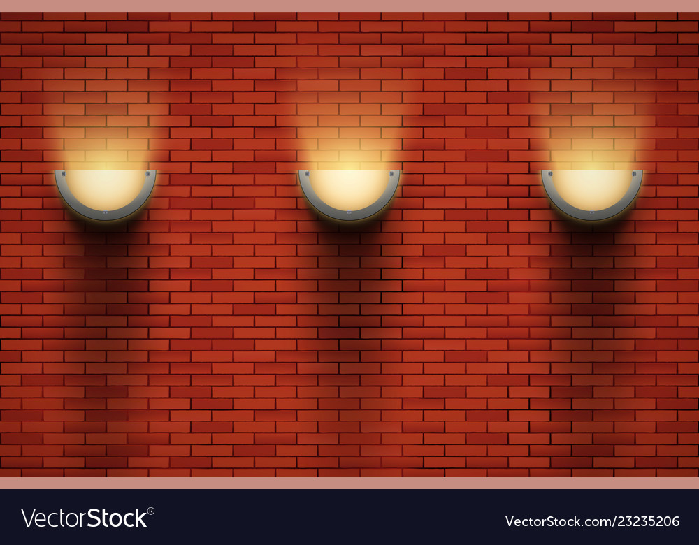 Room With Vintage Sconce Lamps Vector Image