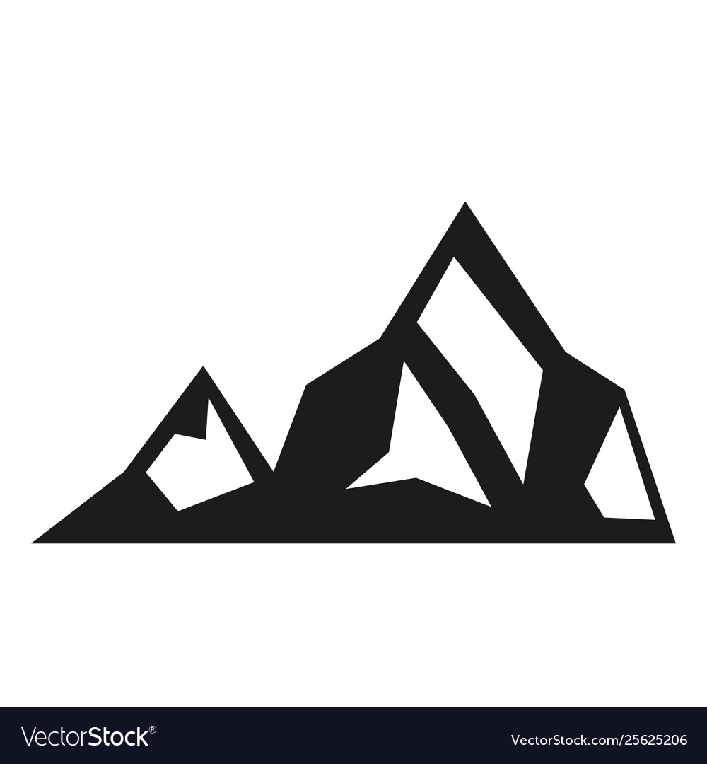 Mountain black icon environment and adventure