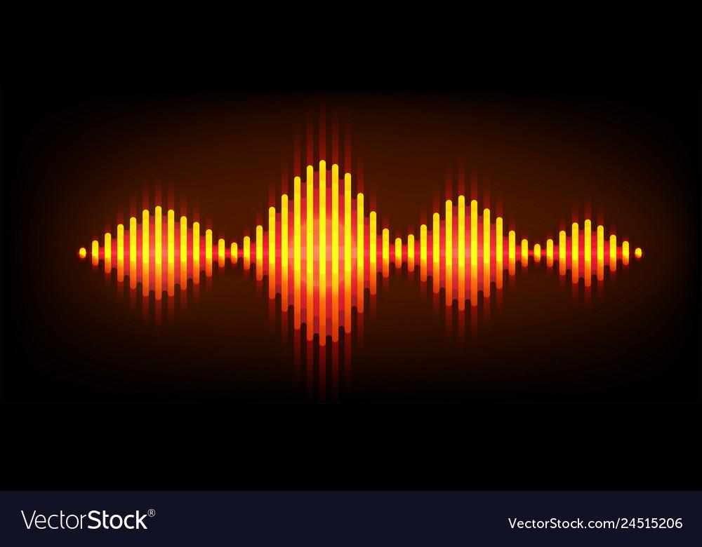 Neon wave sound background music soundwave
