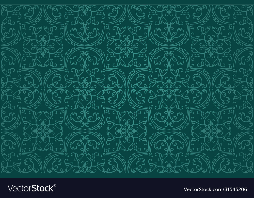 Seamless damask background pattern design and